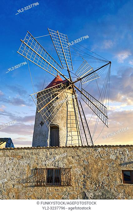 Pictures & images of Nubia Salt works Museum and Nubia wind mill, World Wildlife reserve of Saline di Trapani and Paceco site, Trapani Sicily