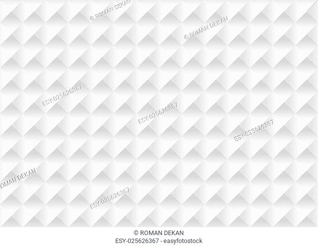 White Seamless Texture - Geometrical Background Illustration, Vector
