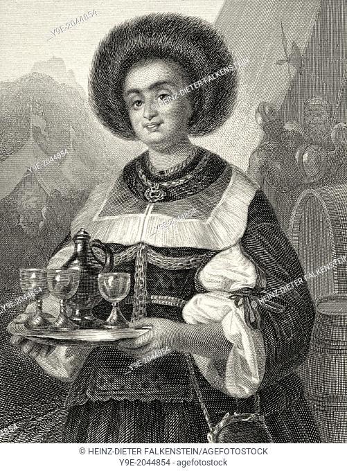 Justine Segedin, Gustel von Blasewitz, character from the drama Wallenstein by Friedrich Schiller, 1759 - 1805