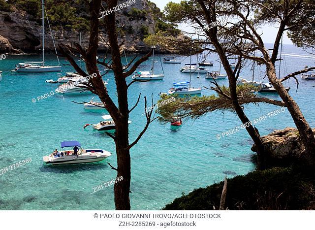 Cala Trebaluger, Migjorn Gran, Menorca, Balearic Islands, Spain