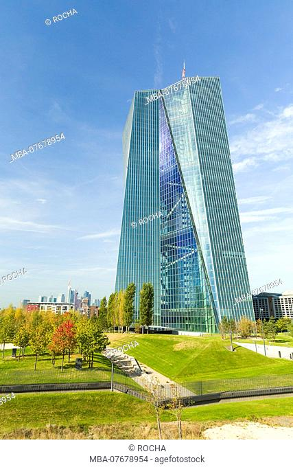 Frankfurt, ECB, Main, vertical format