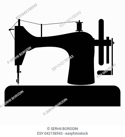 Sewing machine it is the black color icon