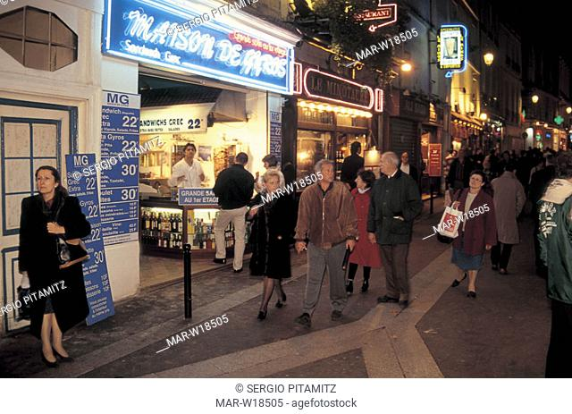 france, paris, latin quarter, restaurants