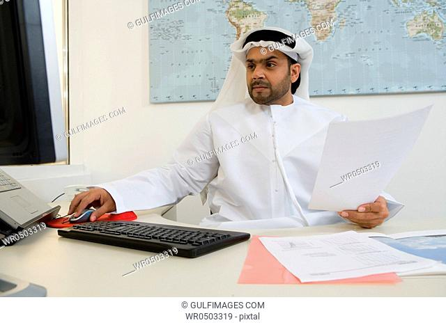 Arab businessman in the office