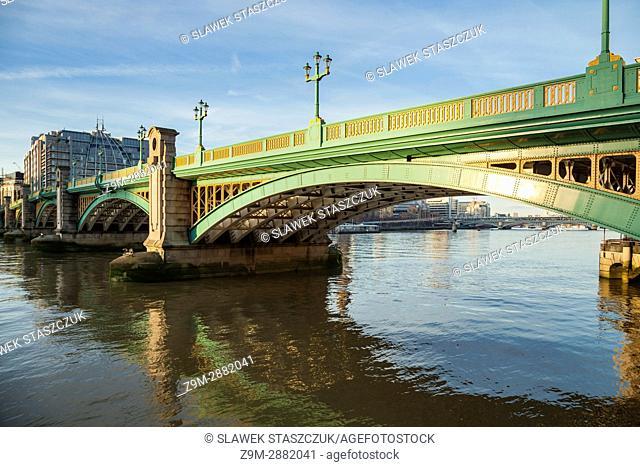 Southwark Bridge on the Thames in London, England