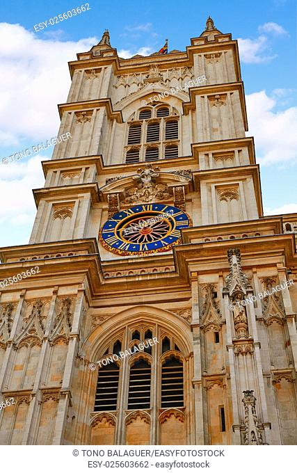 London Westminster Abbey facade in England