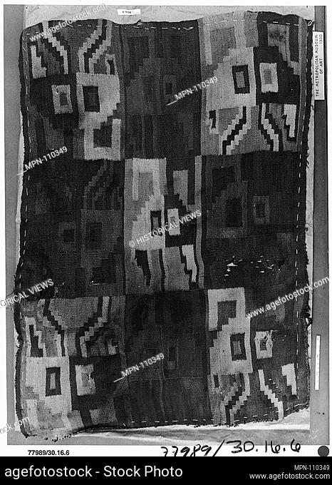 Tapestry Panel Fragment. Date: 10th-15th century; Geography: Peru; Culture: Peru; central coast (?); Medium: Camelid hair; Dimensions: Overall: 17 1/8 x 24 1/2...