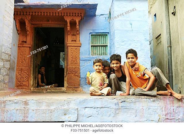 Jodhpur the blue city. Rajasthan, India