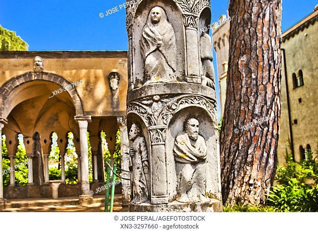 Stanza del Tè, Tea Room, Villa Cimbrone gardens, Ravello, Amalfi Coast, Campania, Italy, Europe