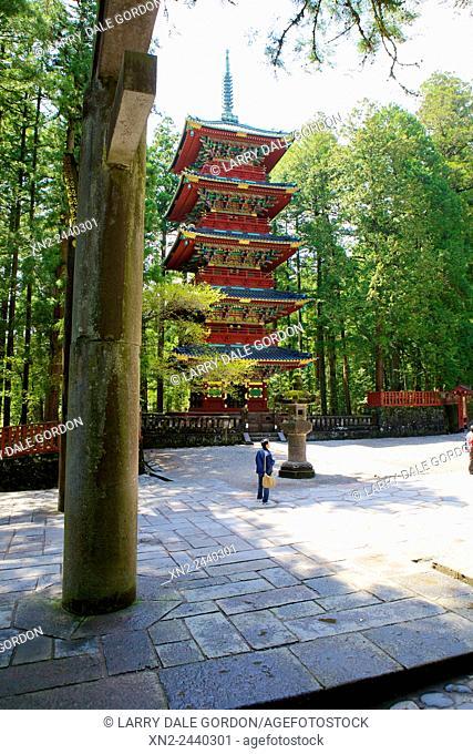 Pagoda at Toshogu Shinto Shrine. Nikko. Tochigi. Japan
