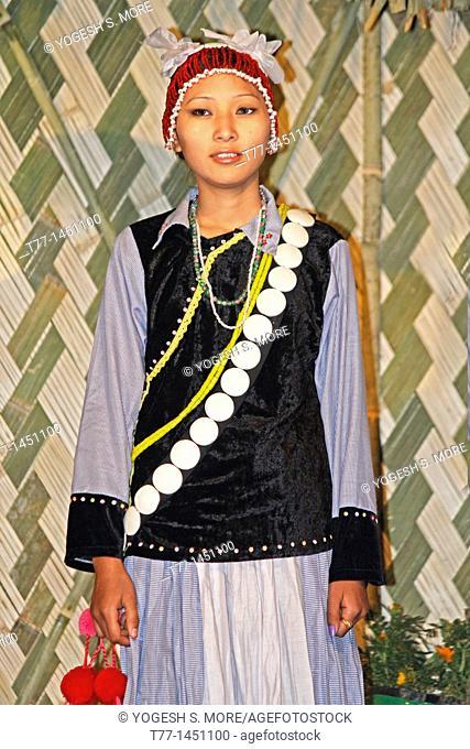 Yobin tribes woman at Namdapha Eco Cultural Festival, Miao, Arunachal Pradesh, India
