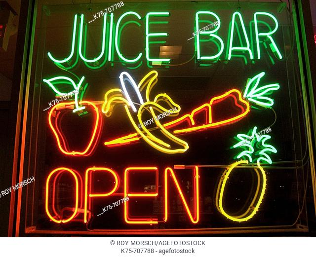 Juice bar sign
