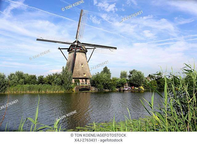 Tourist attraction 'Kinderdijk' near Rotterdam, Holland