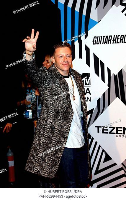 US musician Macklemore arrives at the MTV Europe Music Awards (EMAs) 2015 at the Mediolanum Forum in Assago, near Milan, Italy, 25 October 2015