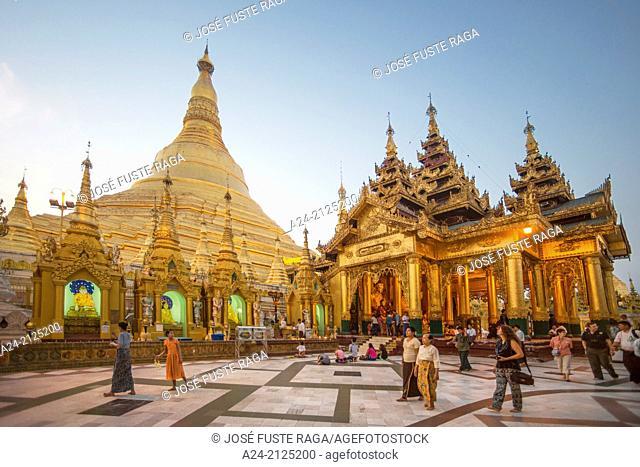 Myanmar , Yangon City,Shwedagon Pagoda,