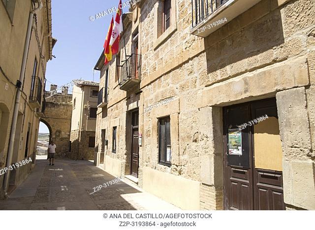 Monteagudo de las Vicarias village in Soria province Castile Leon Spain