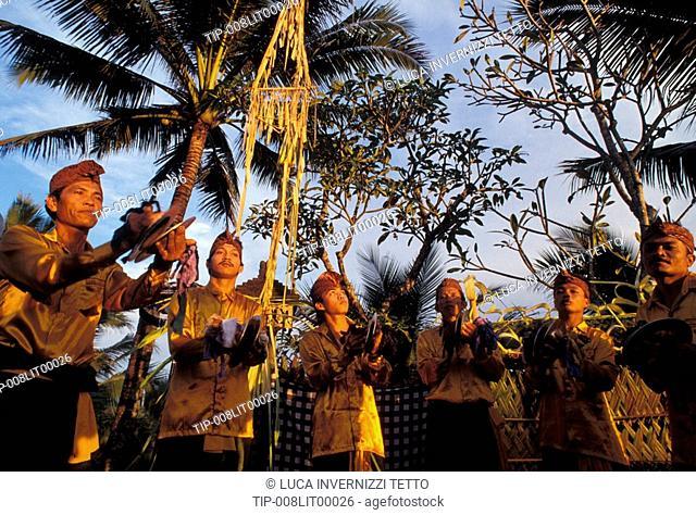 Indonesia, Bali, Ubud, Gamelan orchestra