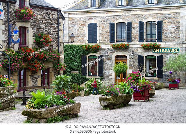 Ancient buildings, Rochefort-en-Terre, Brittany, France