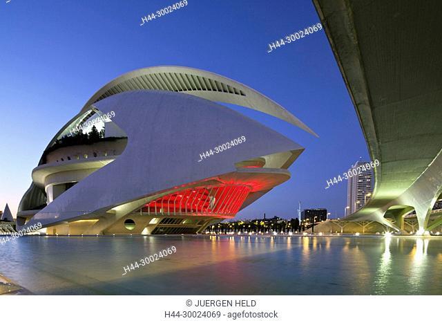 The Palau de les Arts Reina Sofia by Calatrava, , Valencia, Spain