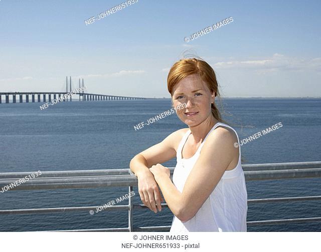 Portrait of a woman, Malmo, Skane, Sweden