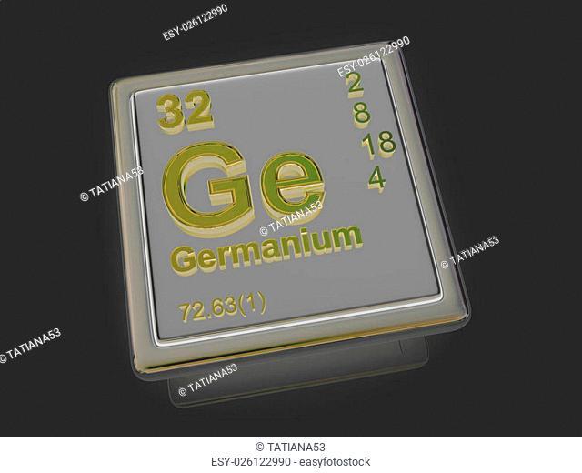 Germanium. Chemical element. 3d