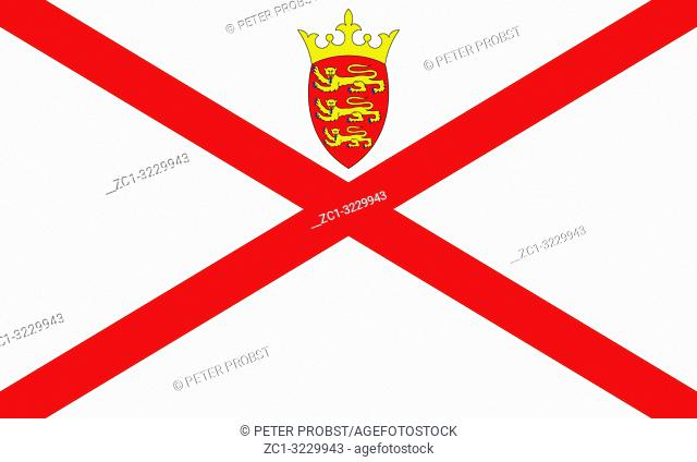 Flag of the British Crown Dependency Jersey