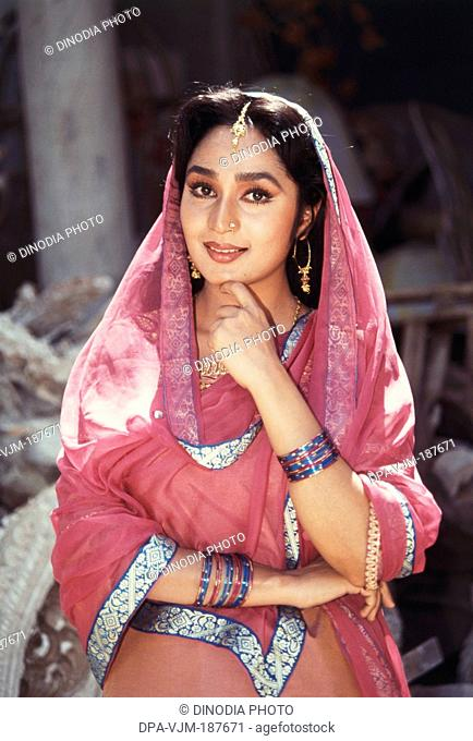 1993, Portrait of Indian film actress Pratibha Sinha