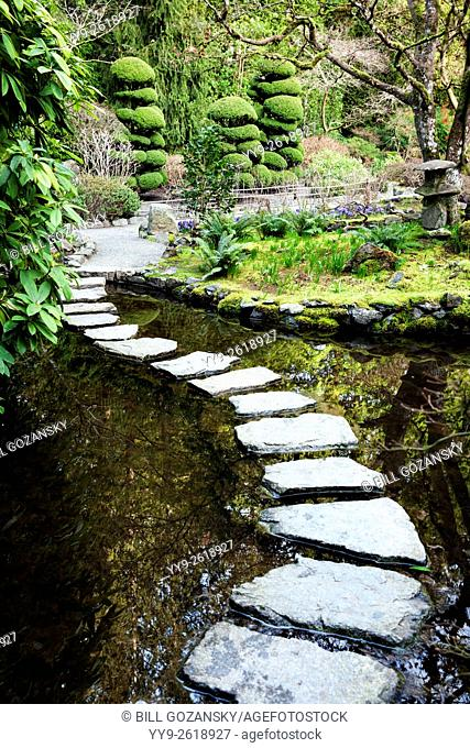 Japanese Garden at Butchart Gardens, near Victoria, Vancouver Island, British Columbia, Canada