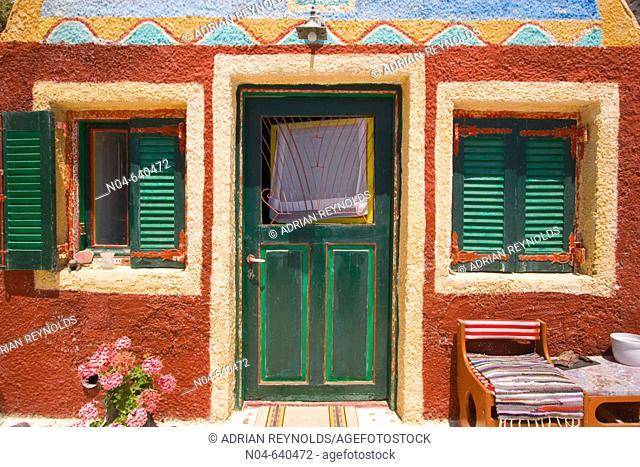 Colourful house. Santorini. Greece