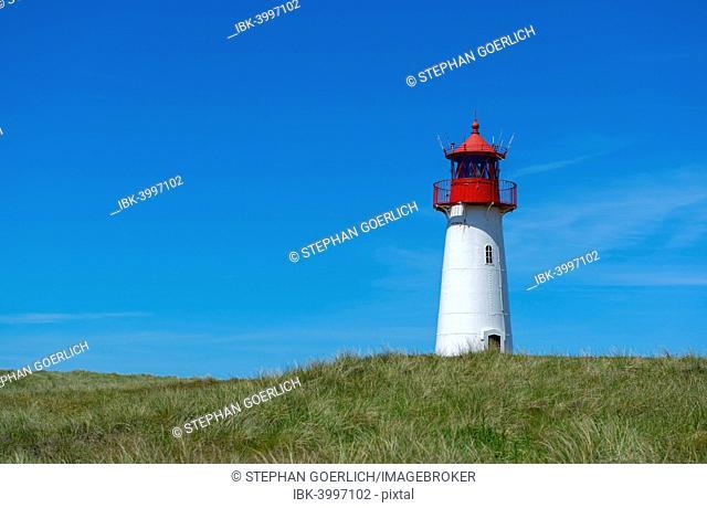 List West Lighthouse, Ellenbogen, near List, Sylt, Schleswig-Holstein, Germany