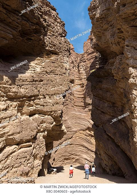 Rock formation El Anfiteatro. Quebrada de las Conchas also called Quebrada de Cafayate. A canyon with colorful rock formations created by Rio de las Conchas