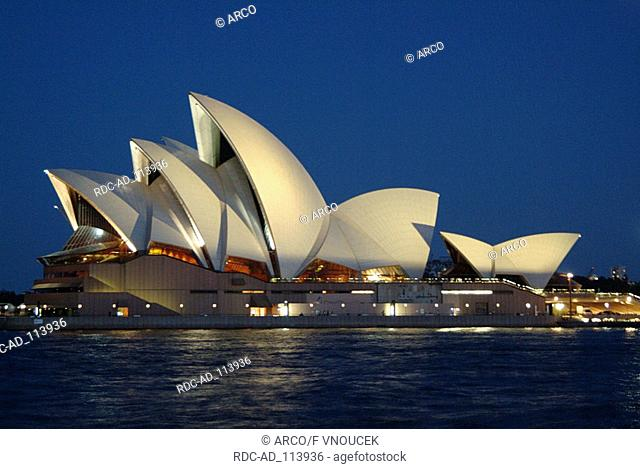 Sydney Opera House in the evening Sydney New South Wales Australia