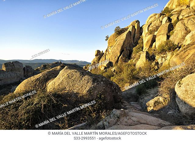 Cliffs at Maeso path. La Pedriza Regional Park. Madrid. Spain