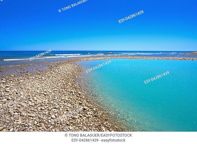 Sol del Riu beach in Alcoceber also Alcossebre in Castellon of Spain
