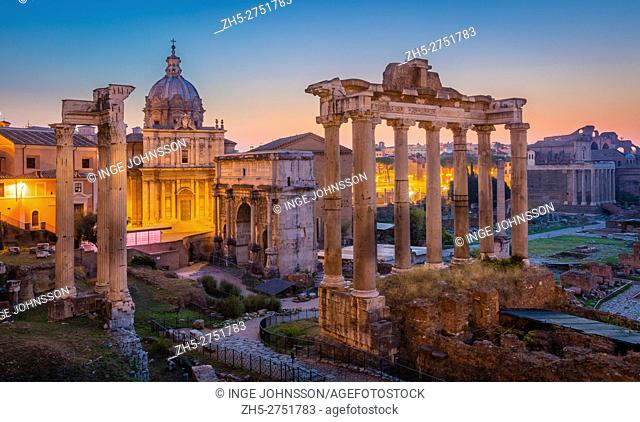 The Roman Forum, also known by its original Latin designation Forum Romanum, is located between the Palatine Hill and the Capitoline Hill of the city of Rome