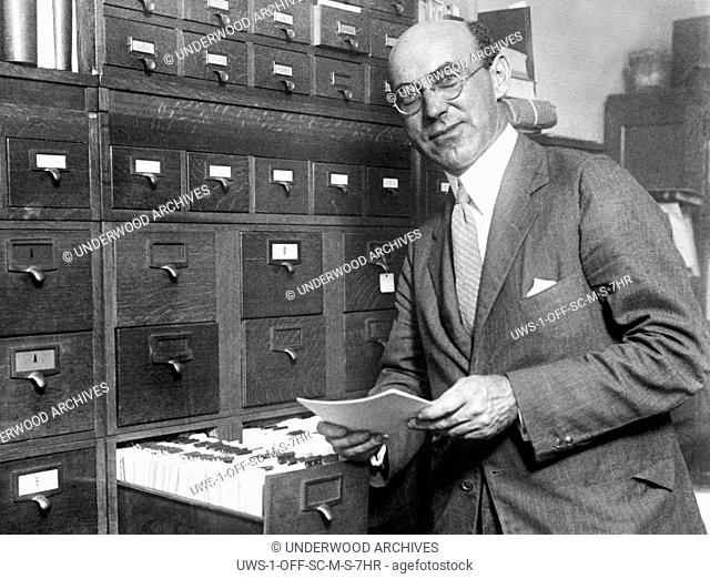 Washington, D.C.: 1926 Entomologist Dr. J. A. Hyslop of the Dept. of Agriculture who conducts an insect census for the United States predicts a plague of...