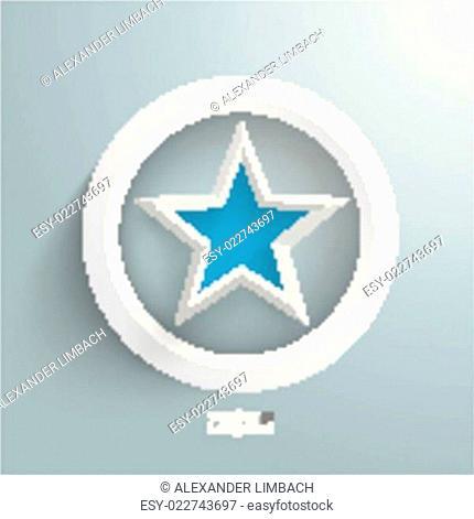 Blue Star White Ring