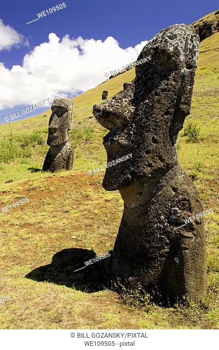 Rano Raraku Moai - Easter Island, Chile