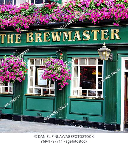 The Brewmaster pub near Leicester Square in London, England on a sunny Summers day