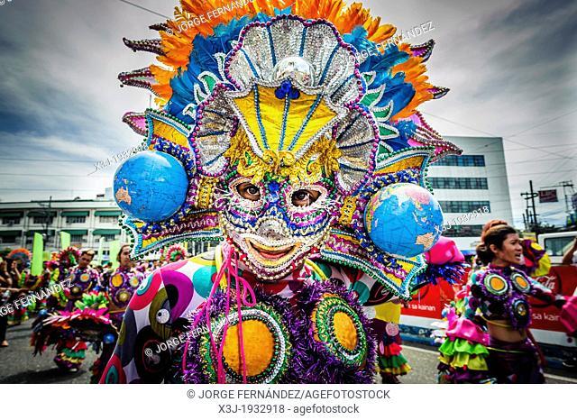 Dancer performing in the festivities of 'Santo Niño'. Philippines