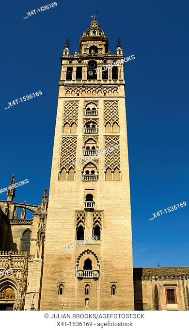 The Giralda tower in Seville, Spain