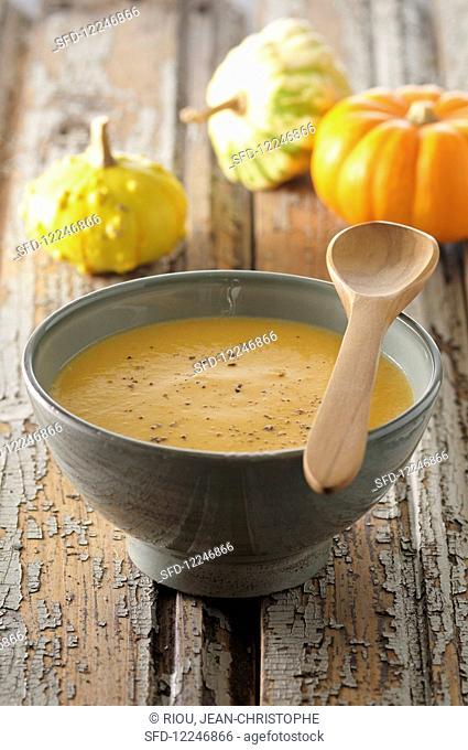 Pumpkin soup with pepper