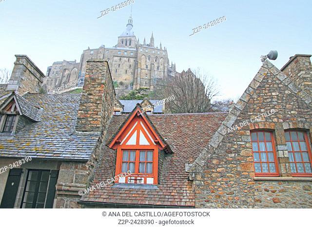 Mont Saint Michel abbey Normandy France