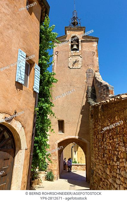 church in Roussillon, Luberon, Vaucluse, Provence, France