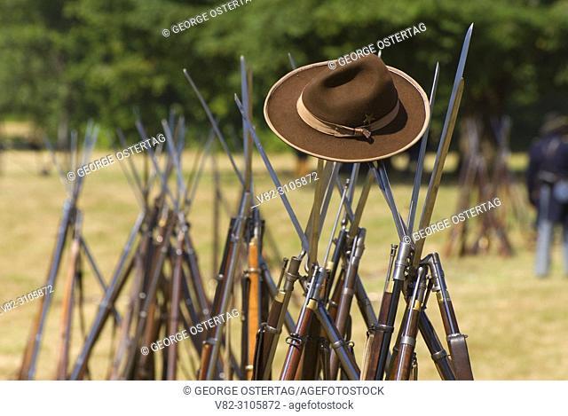 Rifles, Civil War Re-enactment, Willamette Mission State Park, Oregon