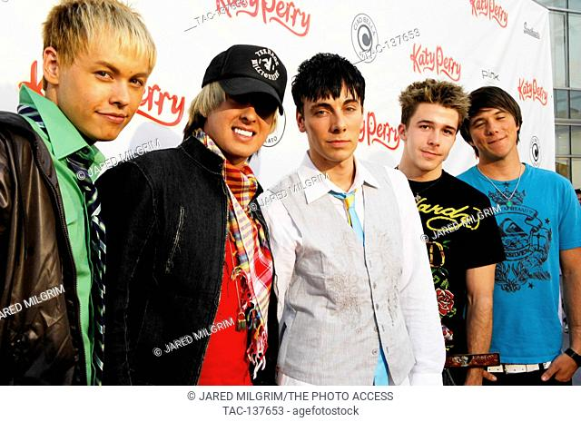 The band Varsity Fanclub attends Katy Perry CD release party at Capitol Records on June 17, 2008 in Hollywood