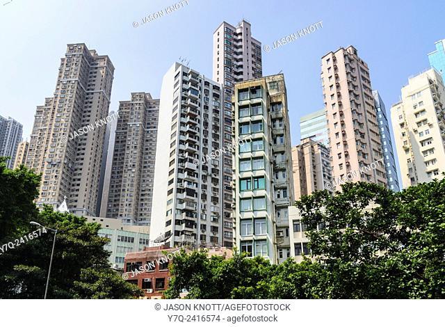 Mid-Levels urban environment, Hong Kong Island, Hong Kong, China