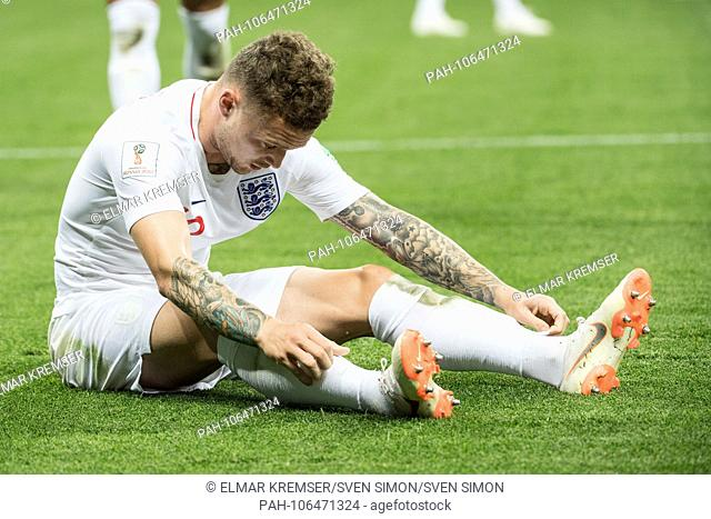 Kieran TRIPPIER (ENG) sits on the pitch, sitting, frustrated, frustrated, late flushed, disappointed, disappointed, disappointment, disappointment, sad