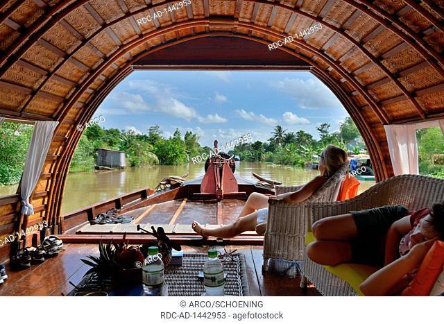 Kreuzfahrt, Sampan, Mekongdelta, Vietnam