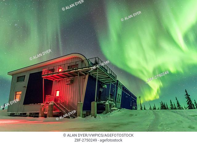 The Northern Lights, or aurora borealis, on the night of March 4/5, 2016 as seen and shot from the Churchill Northern Studies Centre near Churchill, Manitoba